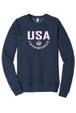 USA Taekwondo Full Print #2 Fleece Raglan Sweatshirt
