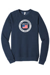 USATKD Flag (Color) Fleece Raglan Sweatshirt