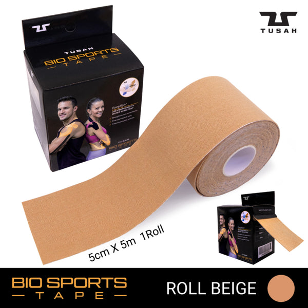 TUSAH BIO SPORTS TAPE - ROLL (Beige)