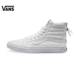Vans White Color High-Top Women's Skateboarding Sneakers