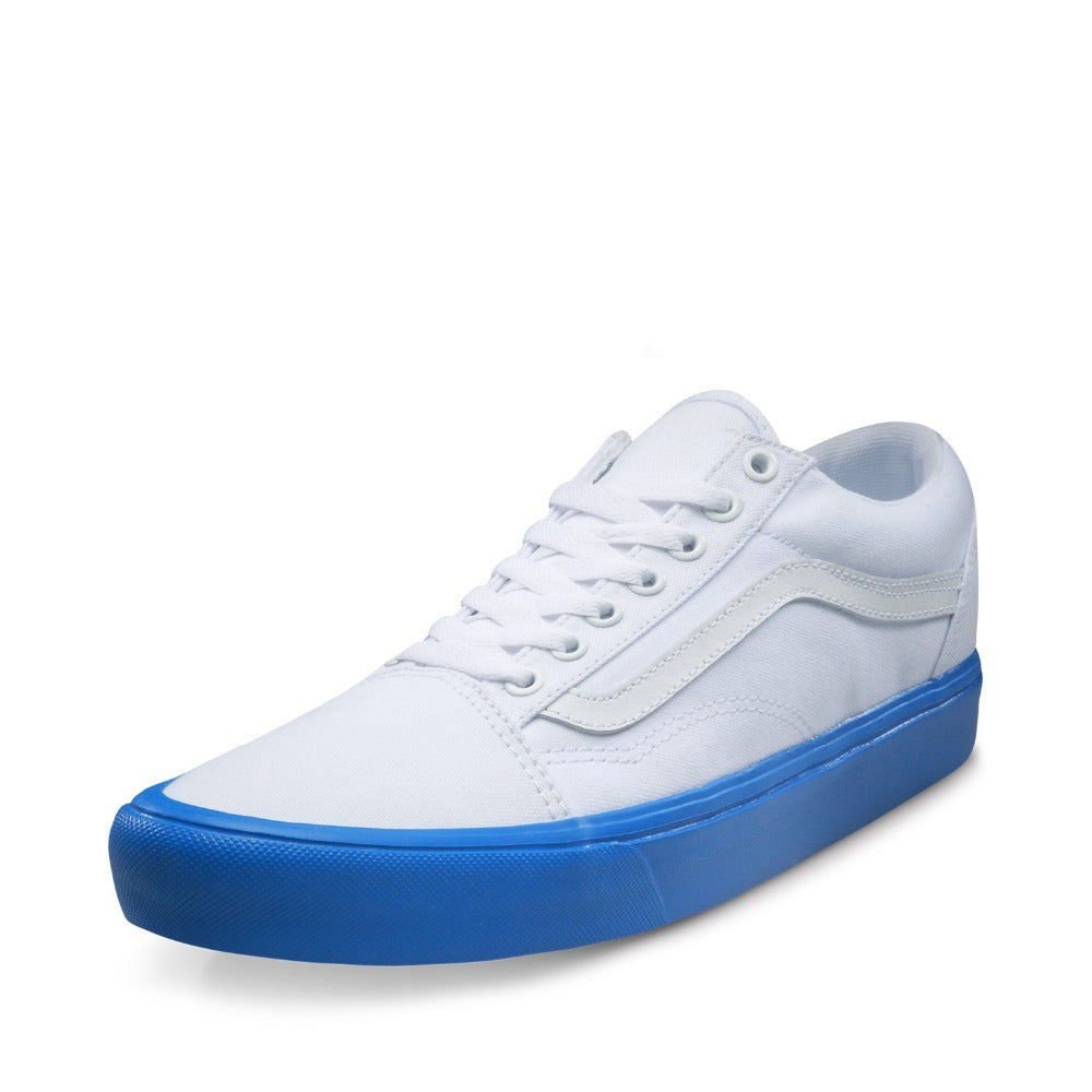 Vans White and Blue Color Unisex Skateboarding Sneakers