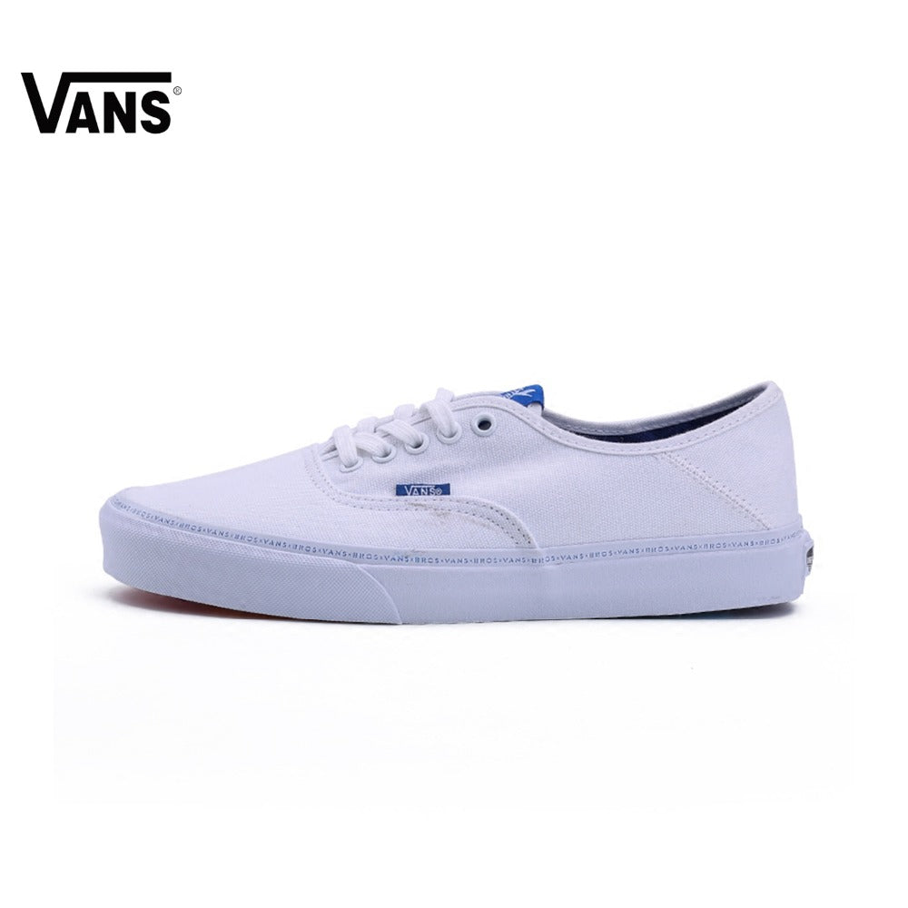 Vans X BROTHERS Men's Rainbow Bottom White and Blue Skateboarding Sneakers