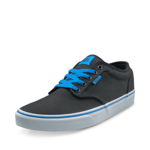 Vans Black and Blue, Gray and Red Color Low-Top Men's Skateboarding Sneakers