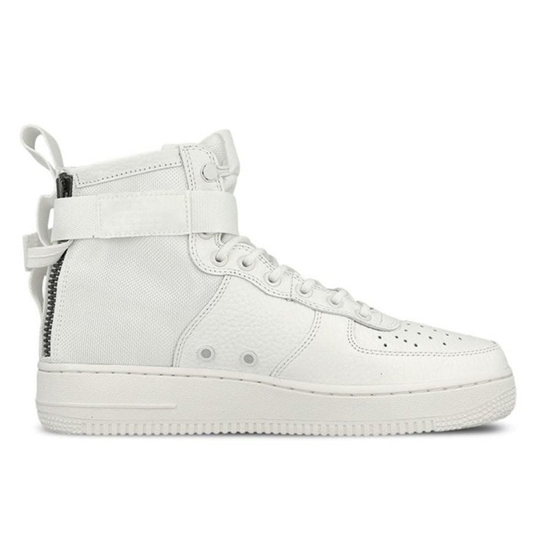 Nike Men SF-AF1 Mid Triple Ivory Skateboarding Sneakers