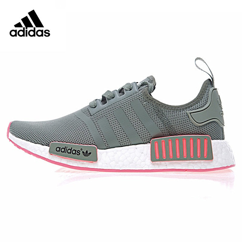 Adidas Originals Gray Pink Women Skateboarding Sneaker Classic Air Mesh Lace-up