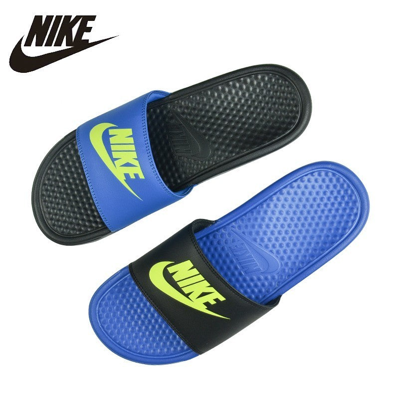 NIKE Benassi Beach & Outdoor Flip Flops. Summer Stability, Quick-Drying, Anti-chlorine Flip Flops For Men