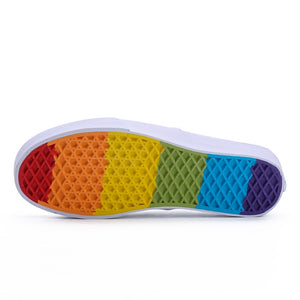 Vans x Brothers Men's Low-Top Classic Rainbow Sole Slip-On Skateboarding Sneakers