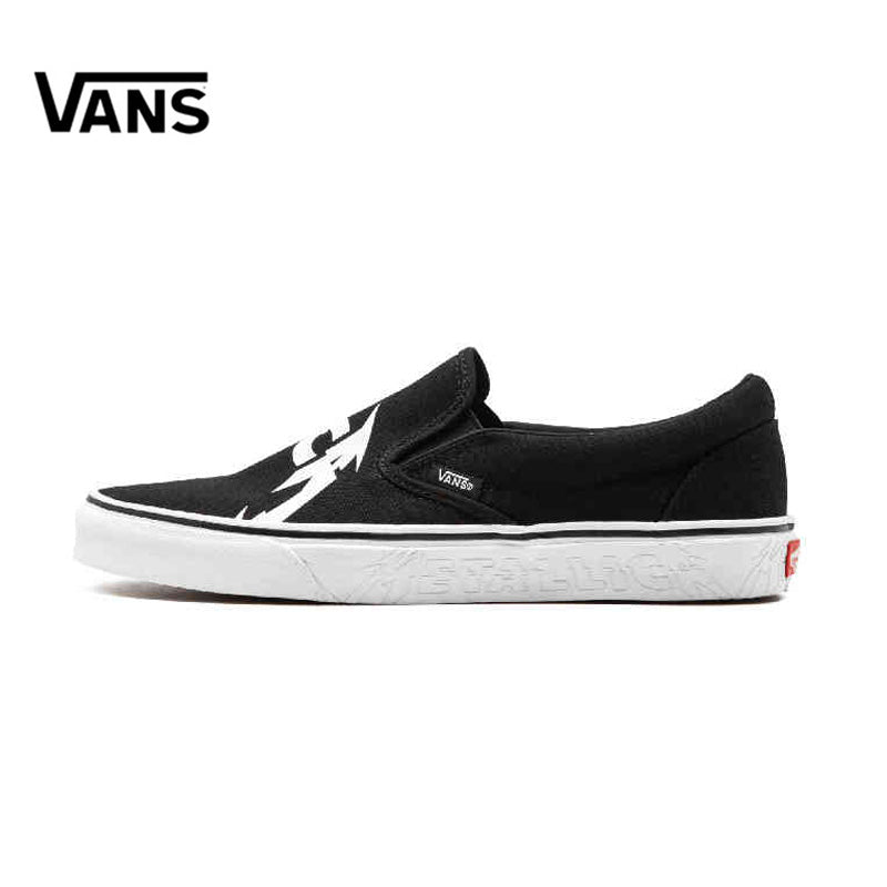 Vans Men's Low-Top Classic Metallica Slip-On Skateboarding Sneakers