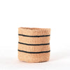 Small Striped Black & Natural handmade basket