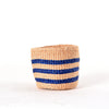 Mini Blue Stripes Kenya Basket