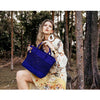 Royal Blue Plaited Tote