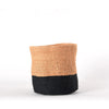 Medium Two-Tone Black & Natural Basket