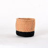 Mini Two-Tone Black & Natural Handmade Basket