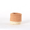 Mini Two-Tone Natural & White bahati basket