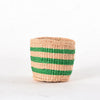 Mini Green Stripes Kenya Basket
