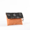 Black Mud Cloth Clutch Handmade