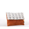 White Mud Cloth Clutch handmade
