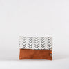 White Mud Cloth Clutch