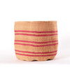 Large Pink Stripes African Basket