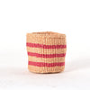 Mini Pink Stripes Home Decor Basket