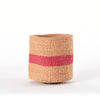 Small Pink Stripes home decor basket