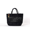 Midnight Black Plaited Tote