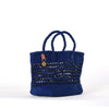 Royal Blue Plaited Tote handmade Basket