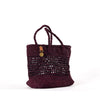 Burgundy Plaited Tote
