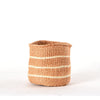 Small Striped White & Natural bAHATI BASKET
