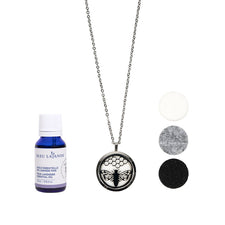 Duo collier diffuseur & huile essentielle / Essential oil diffuser necklace duo