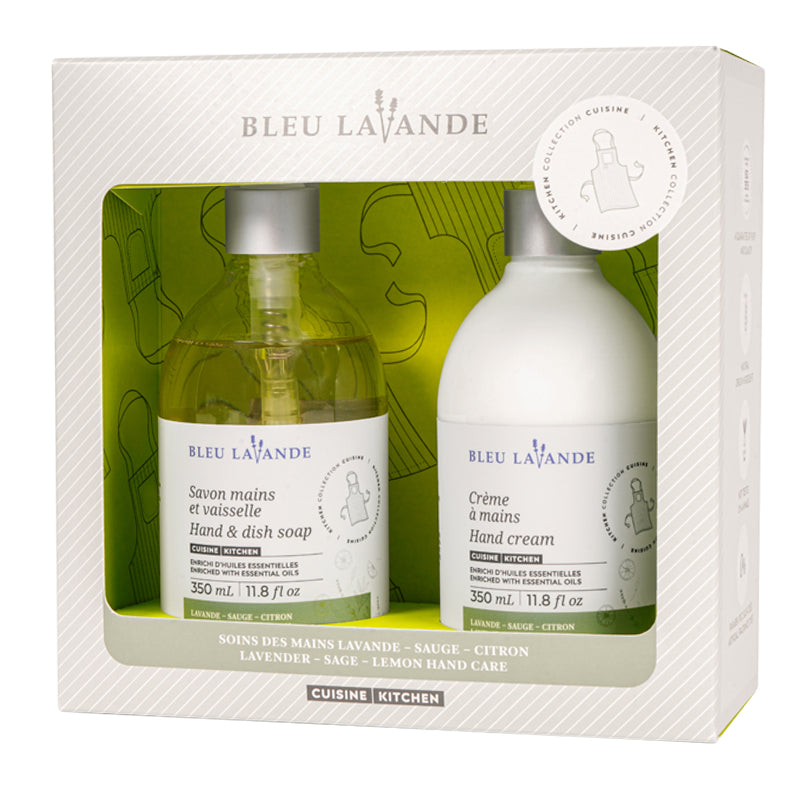 Duo soins des mains lavande-sauge-citron / Lavender-sage-lemon hand care duo