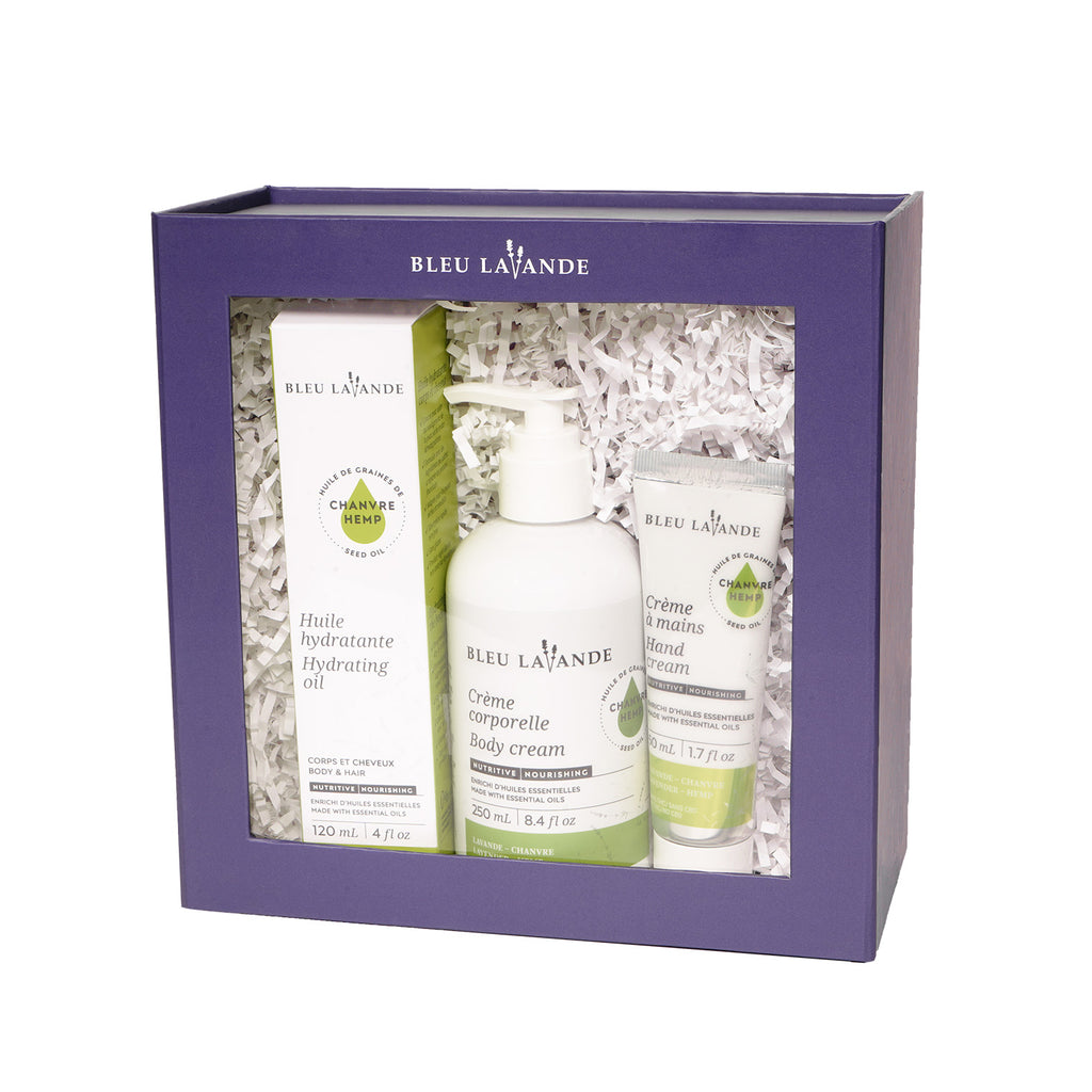 Ensemble-cadeau trio lavande-chanvre / Lavender-hemp trio gift set