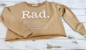 The definition of rad crop pullover