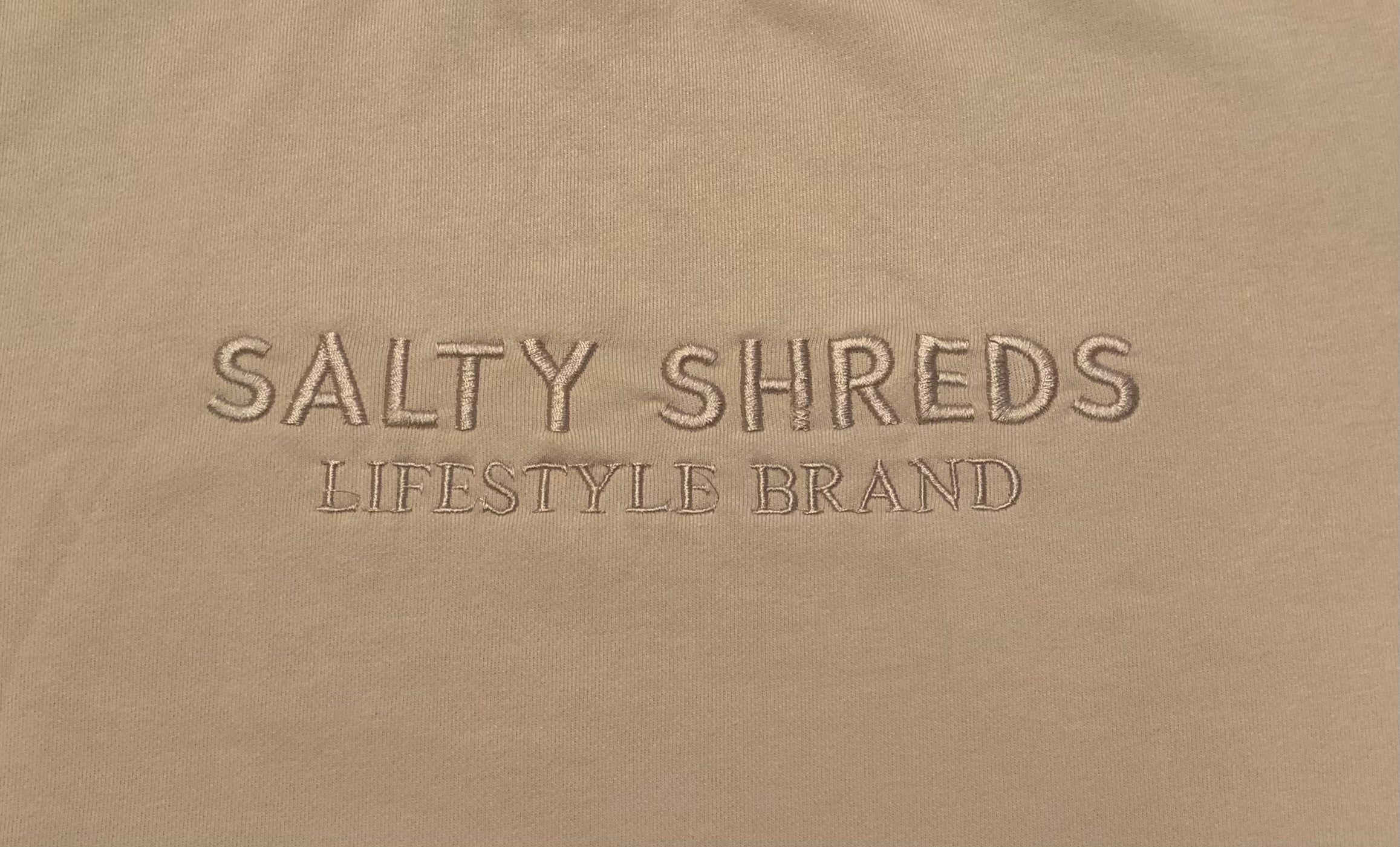 Factory Seconds - Salty Shreds embroidered lifestyle ladies dress- Sandy Beige - M