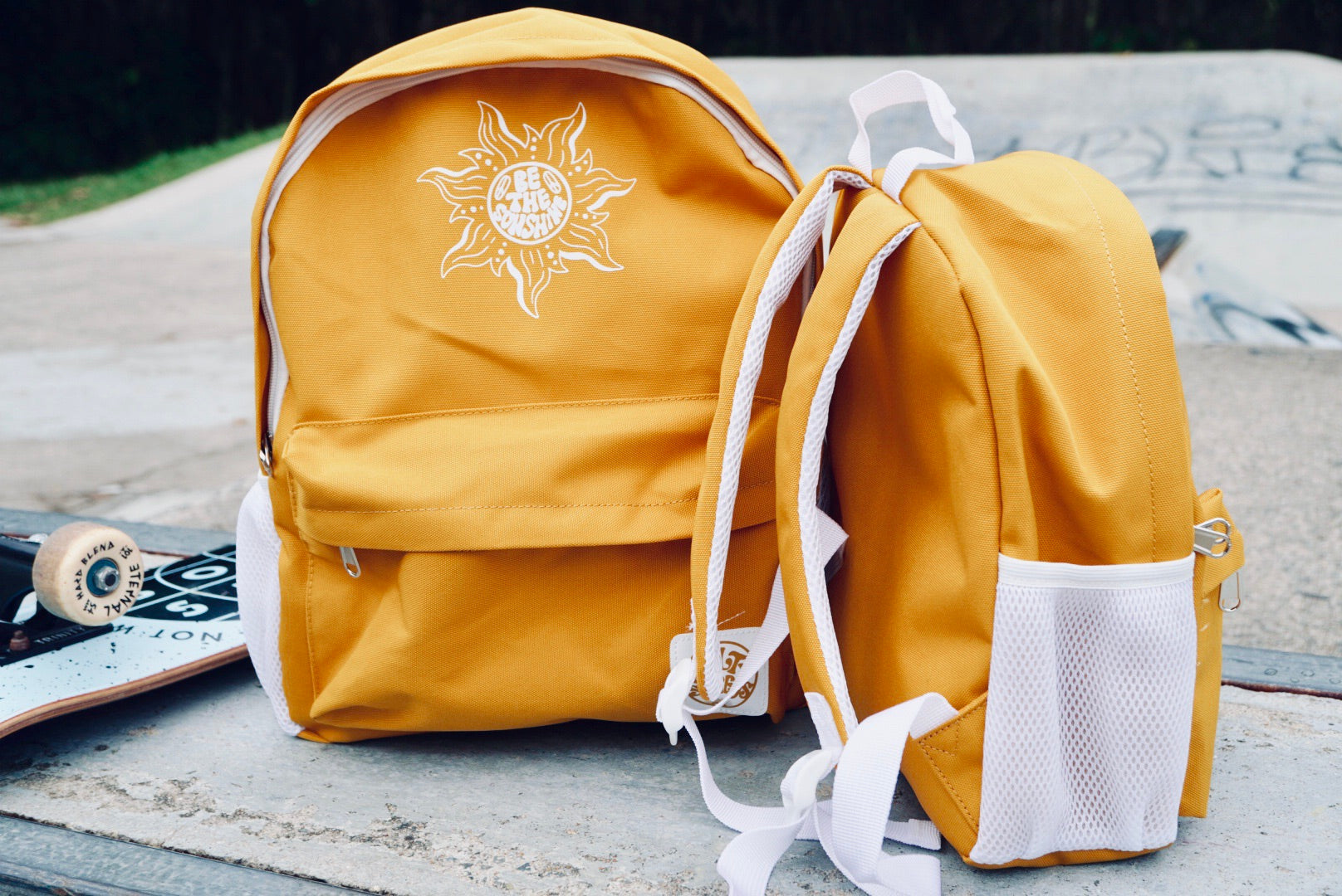 'Be the sunshine' backpack