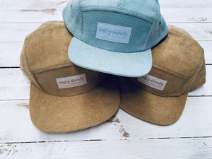 5 panel corduroy caps