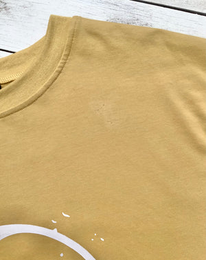 Factory Seconds - SS Yin & Yang Ladies Mustard Tee - Size 12