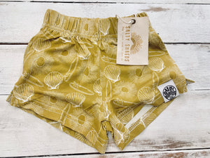 Sunshine & surfboards mustard bamboo shorties