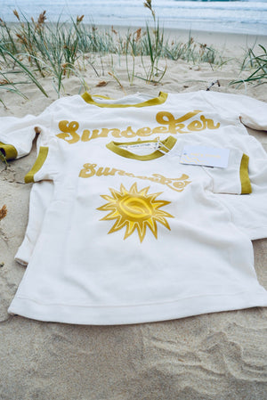 'Sunseeker' ladies retro organic tee