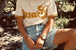 'gnarly' ladies retro organic tee