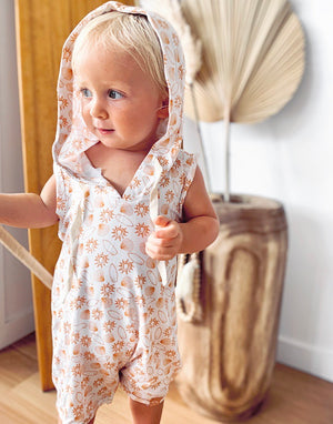 Sunshine shells salty swells bamboo pattern jumpsuit