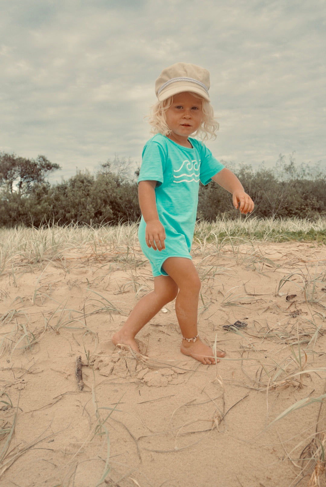 'Wave searching' Bamboo Romper
