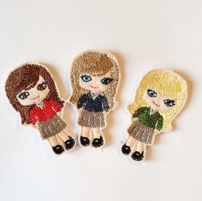School Girl Felties - Jolif The Craft Shop