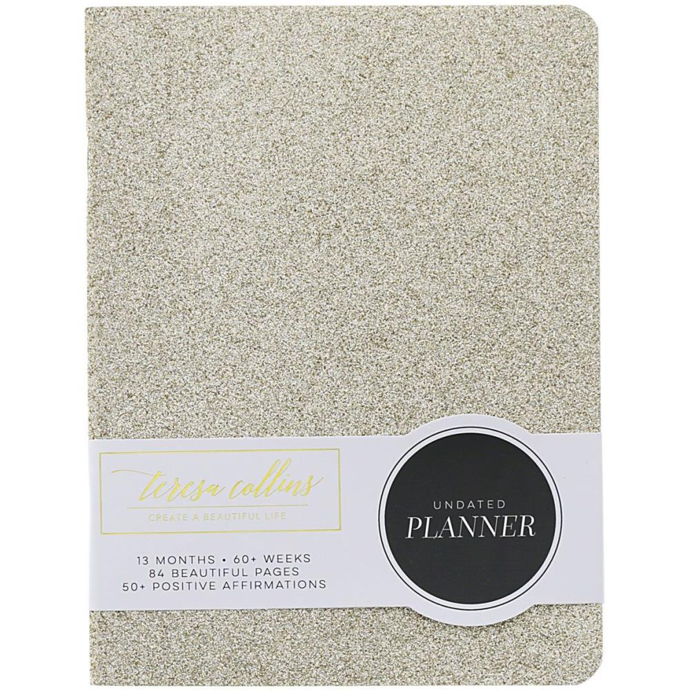 Teresa Collins 12-Month Undated Planner in Gold Glitter - Jolif The Craft Shop