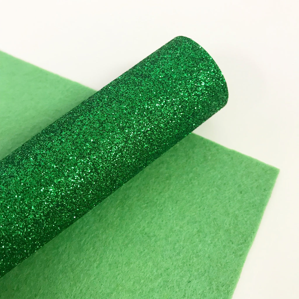 Emerald Green Glitter Felt - Jolif The Craft Shop