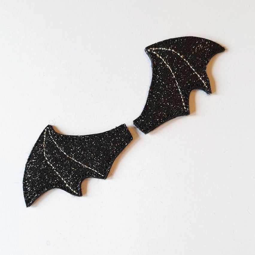 Glitter Bat Wing Felties