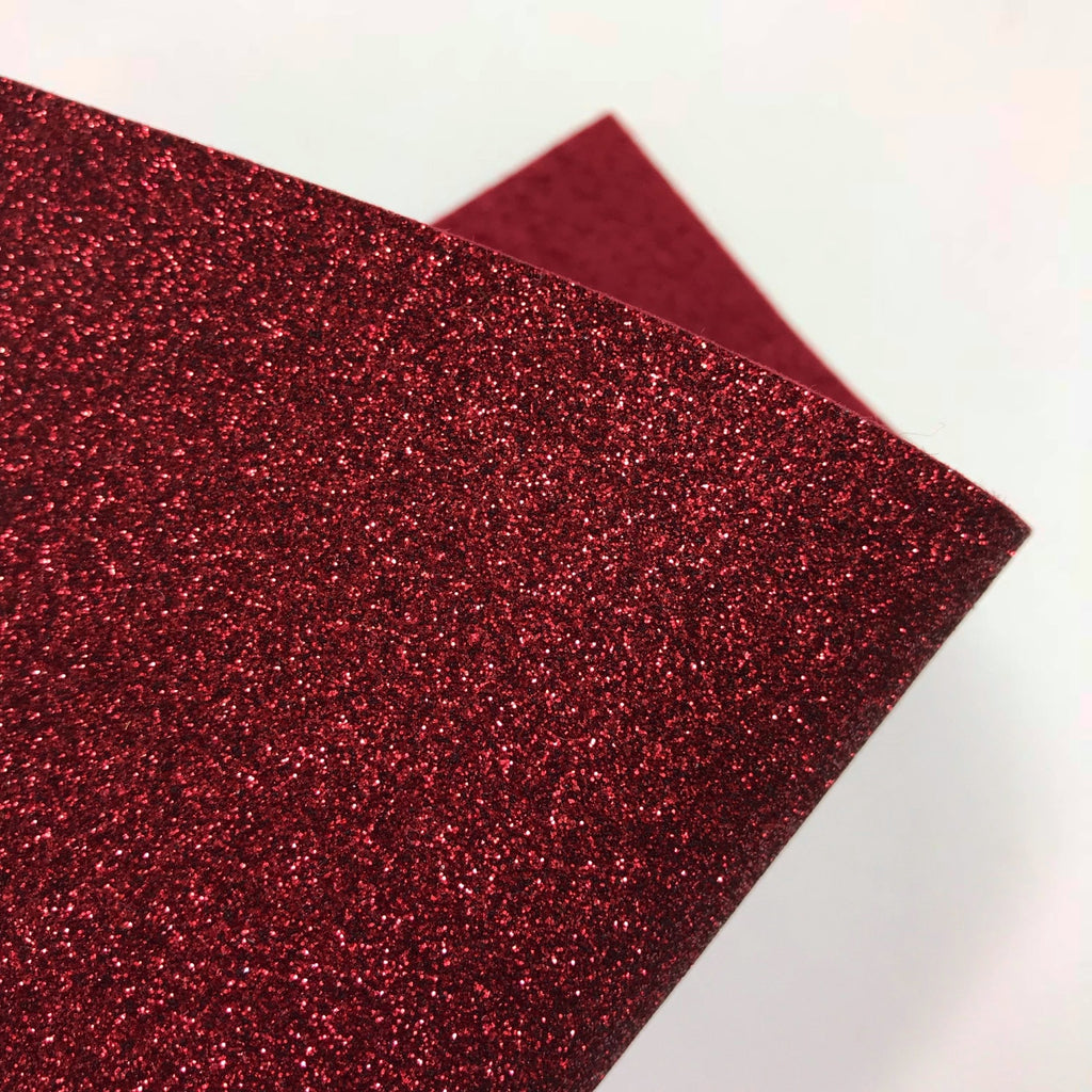 Maroon Glitter Felt - Jolif The Craft Shop