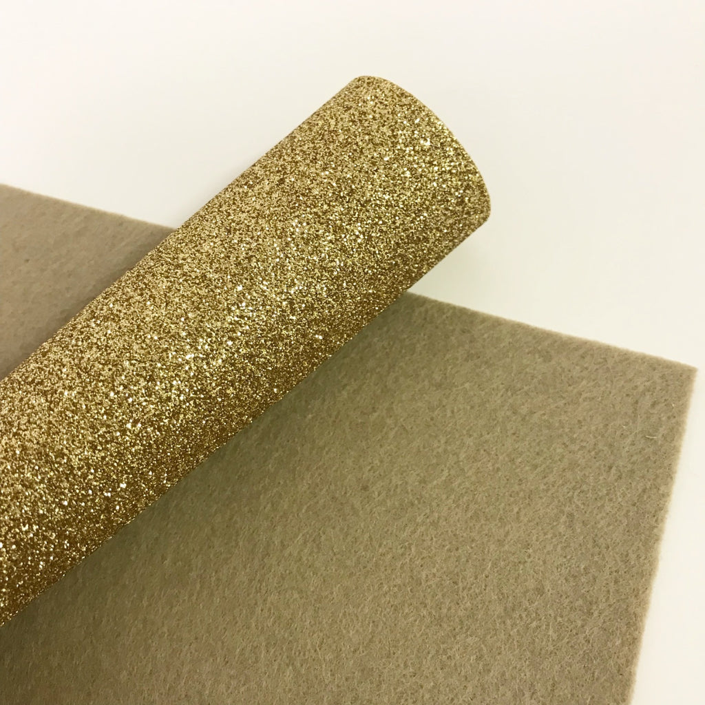 Pale Gold Glitter Felt - Jolif The Craft Shop