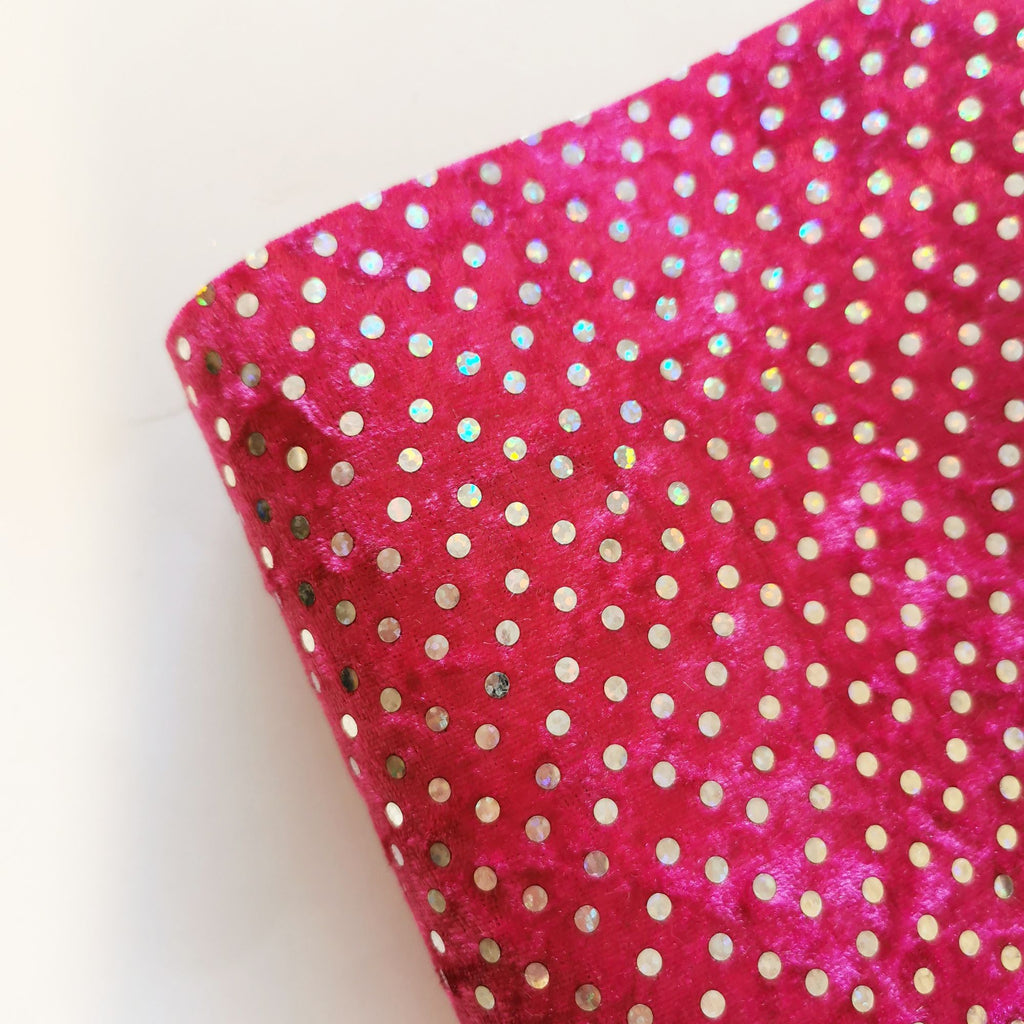 Sequin Velvet Style Fabric Felt - Jolif The Craft Shop