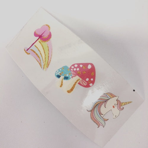 Unicorns and Toadstools Colourful Vinyls - Jolif The Craft Shop